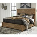Signature Design by Ashley Grindleburg Rustic California King Panel Bed