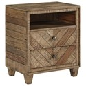 Signature Design by Ashley Grindleburg 2 Drawer Night Stand - Item Number: B754-92