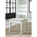 Signature Design by Ashley Grindleburg Dining Upholstered Ladder Back Side Chair