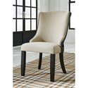 Signature Design by Ashley Grindleburg Dining Upholstered Arm Chair with Nailhead Trim
