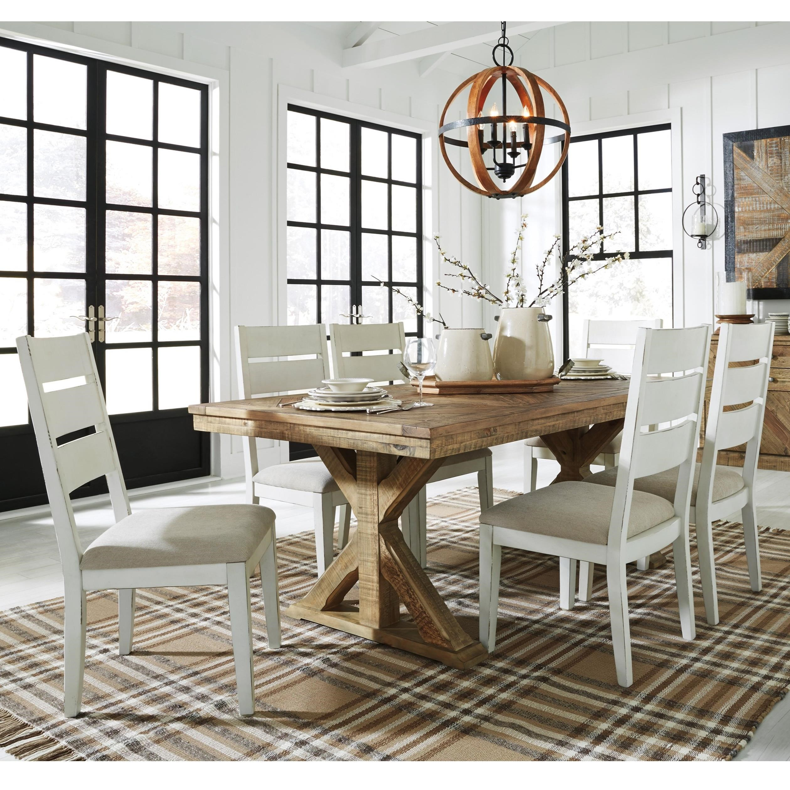 Grindleburg Dining Room Table Round: Signature Design By Ashley Grindleburg 7 Piece Rectangular