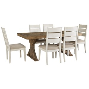 Signature Design by Ashley Grindleburg 7 Piece Rectangular Table and Chair Set