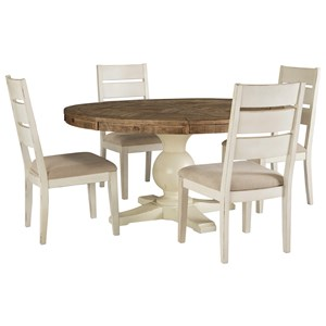5 Piece Round Table and Chair Set