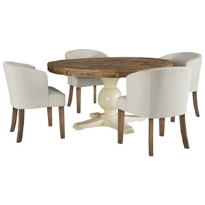 Signature Design by Ashley Grindleburg 5 Piece Round Table and Chair Set