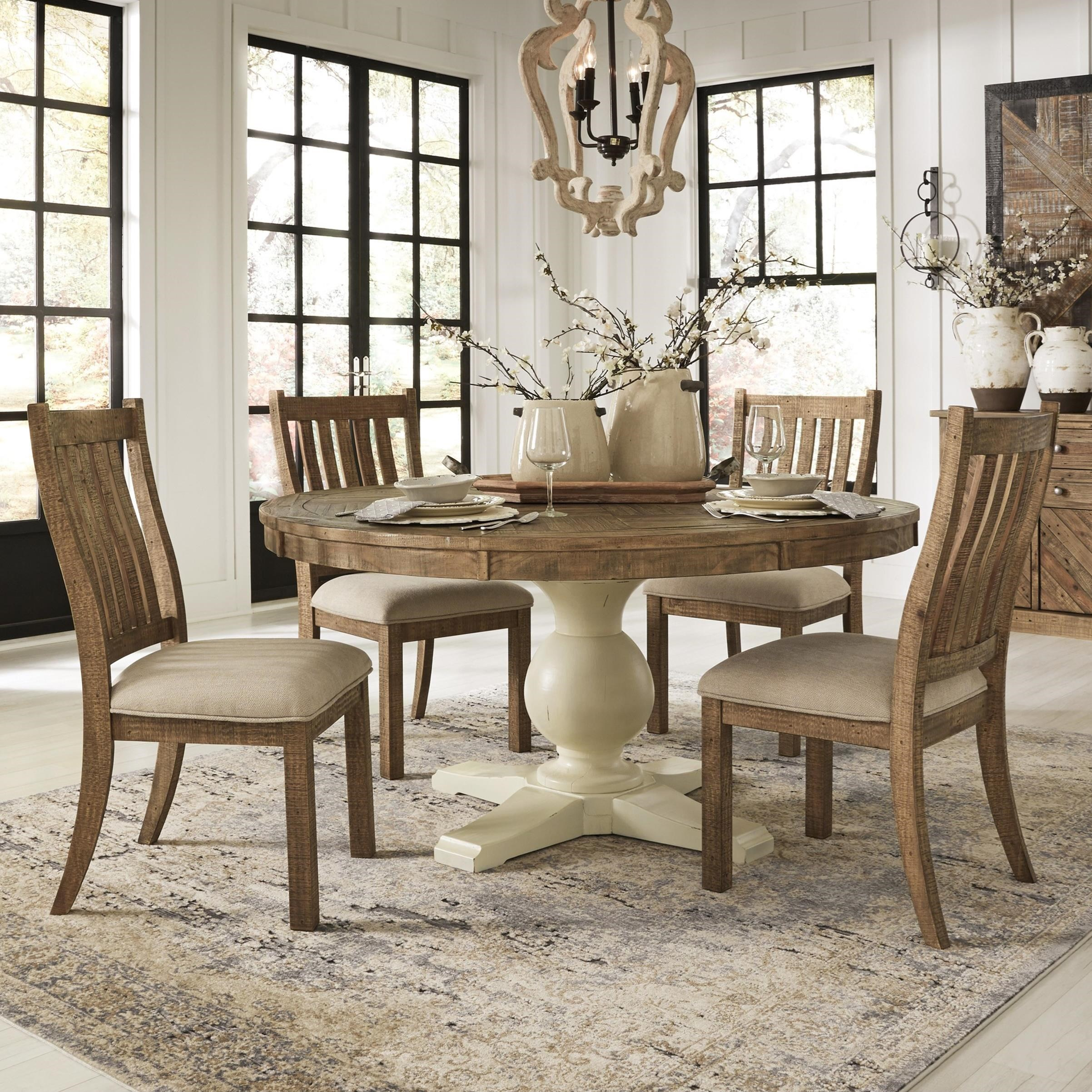 Grindleburg Dining Room Table: Grindleburg 5 Piece Round Table And Chair Set
