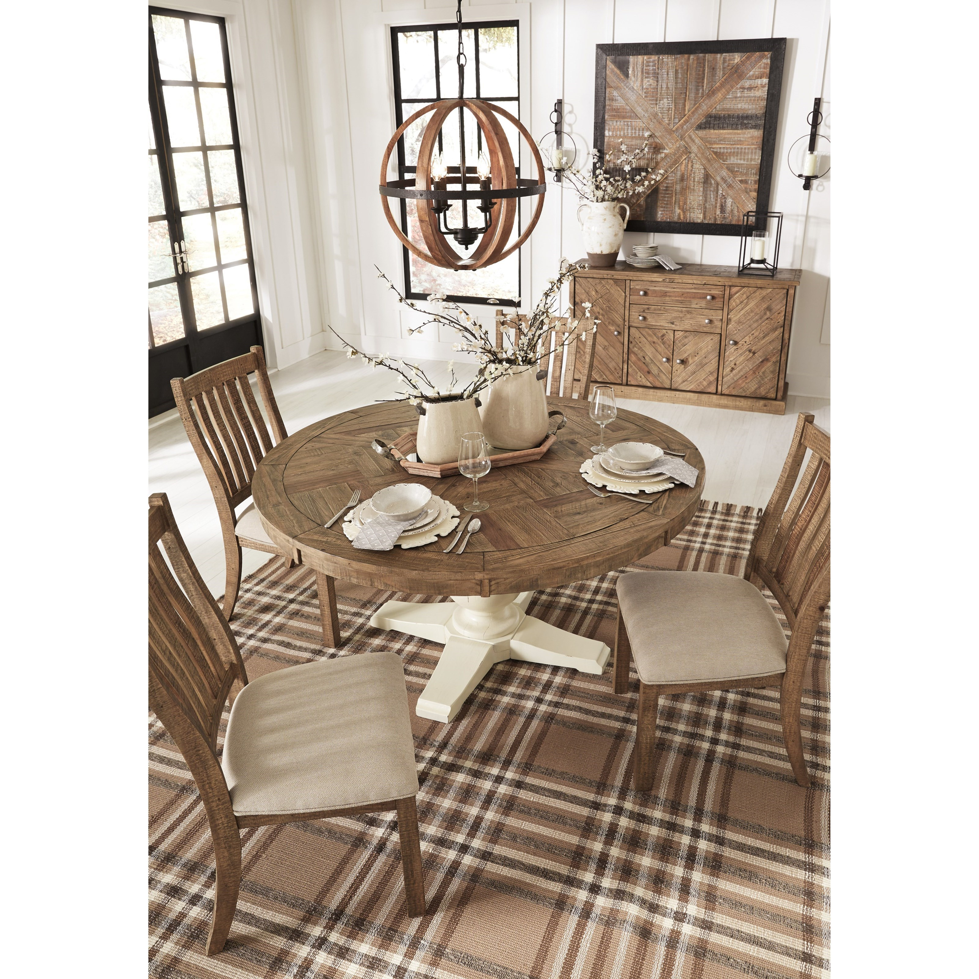 Ashley D754 05: Signature Design By Ashley Grindleburg 5 Piece Round Table