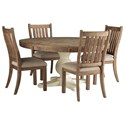 Signature Design by Ashley Grindleburg 5 Piece Table and Chair Set - Item Number: D754-50T+50B+4x05
