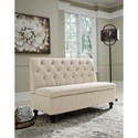 Signature Design by Ashley Gwendale Tufted Armless Accent Bench with Storage and Tufted Back
