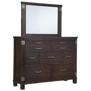 Signature Design by Ashley Haddigan Dresser & Bedroom Mirror