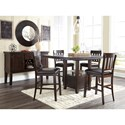 Signature Design by Ashley Haddigan Casual Dining Room Group - Item Number: D596 Dining Room Group 5