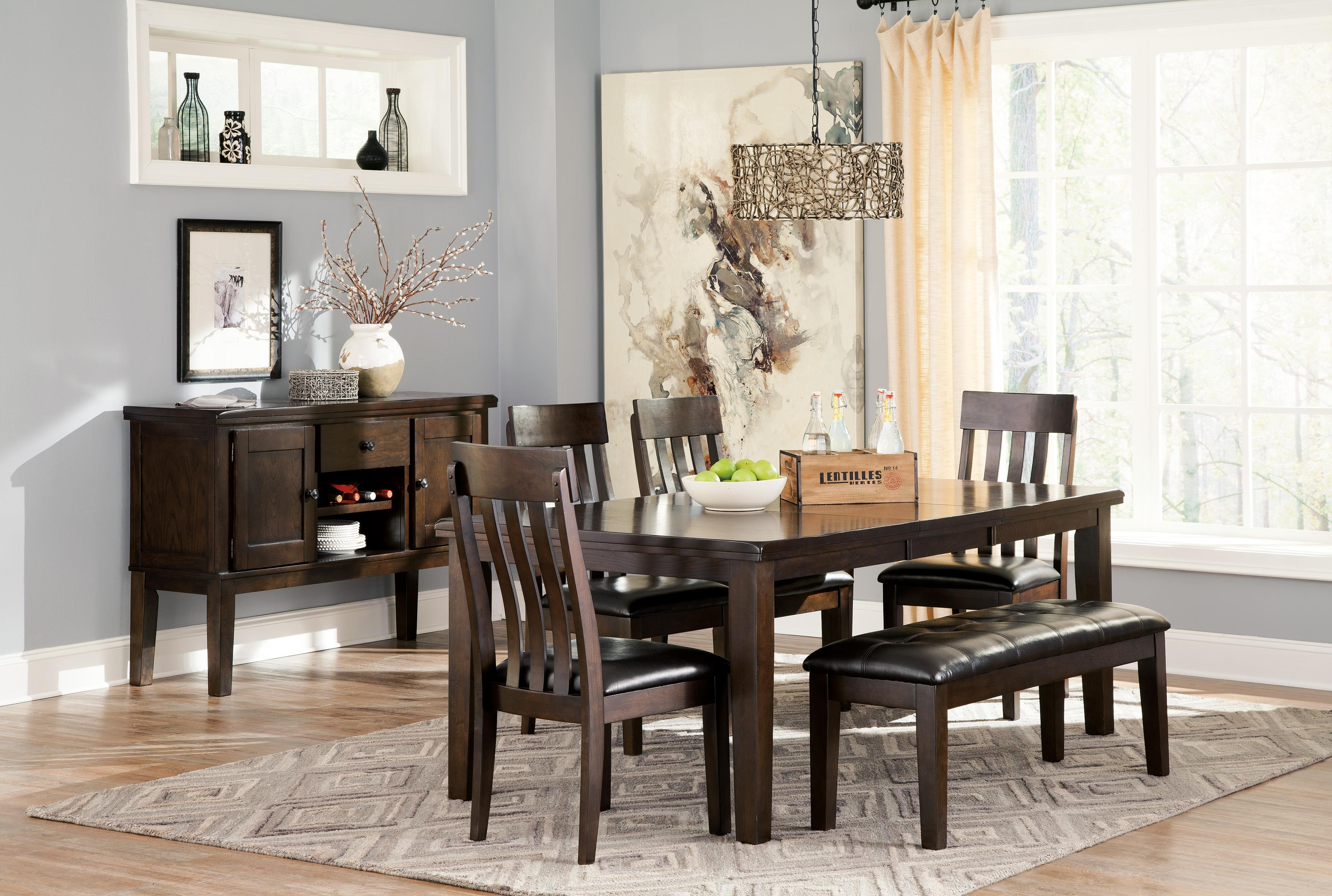 Haddigan 6-Piece Rectangular Dining Room Table W/ 4