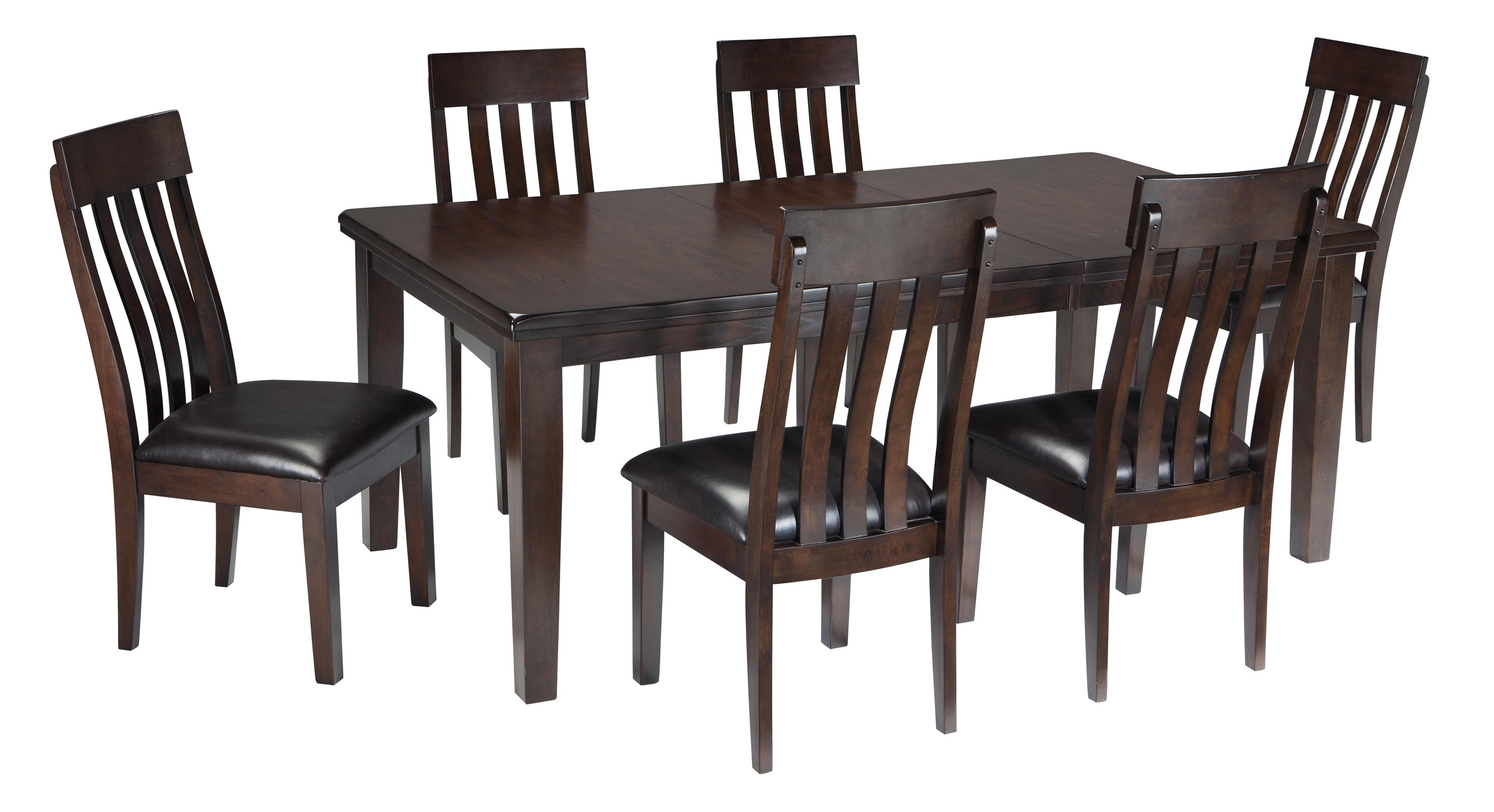 Signature design by ashley haddigan 7 piece rectangular for 2 piece dining room set