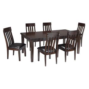 Signature Design by Ashley Haddigan 7-Piece Dining Room Table & Side Chair Set