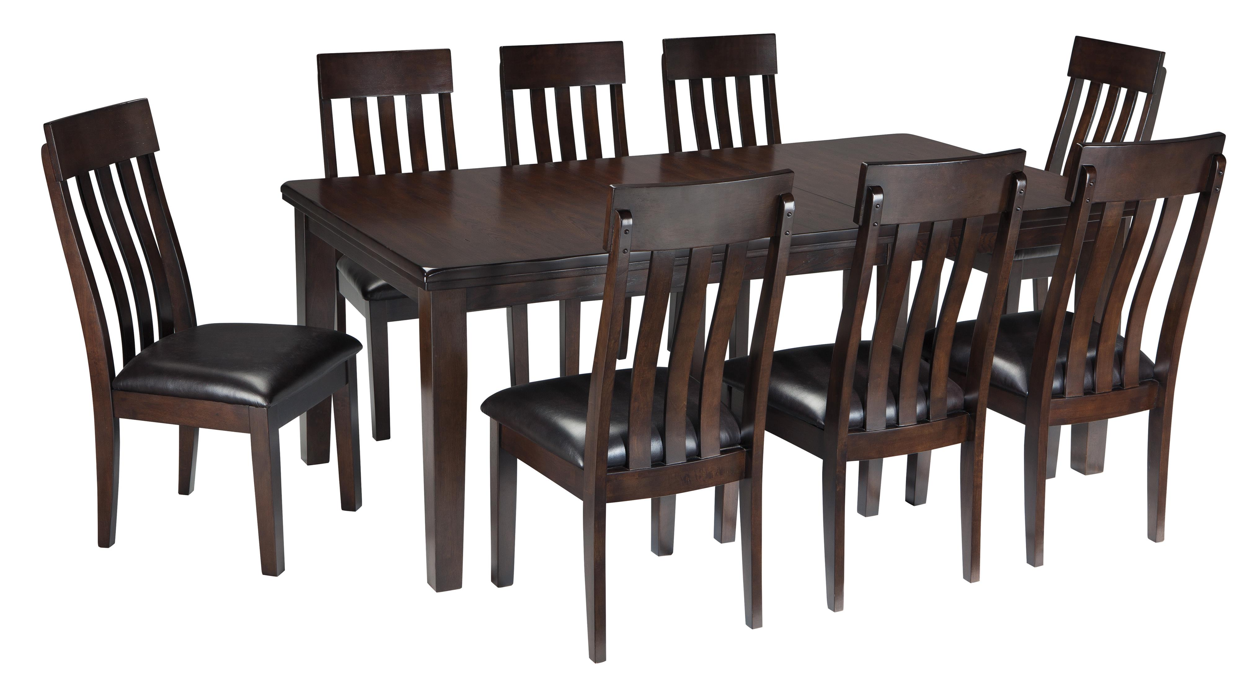 Signature Design by Ashley Haddigan 9-Piece Dining Room Table & Side Chair Set - Item Number: D596-35+8x01