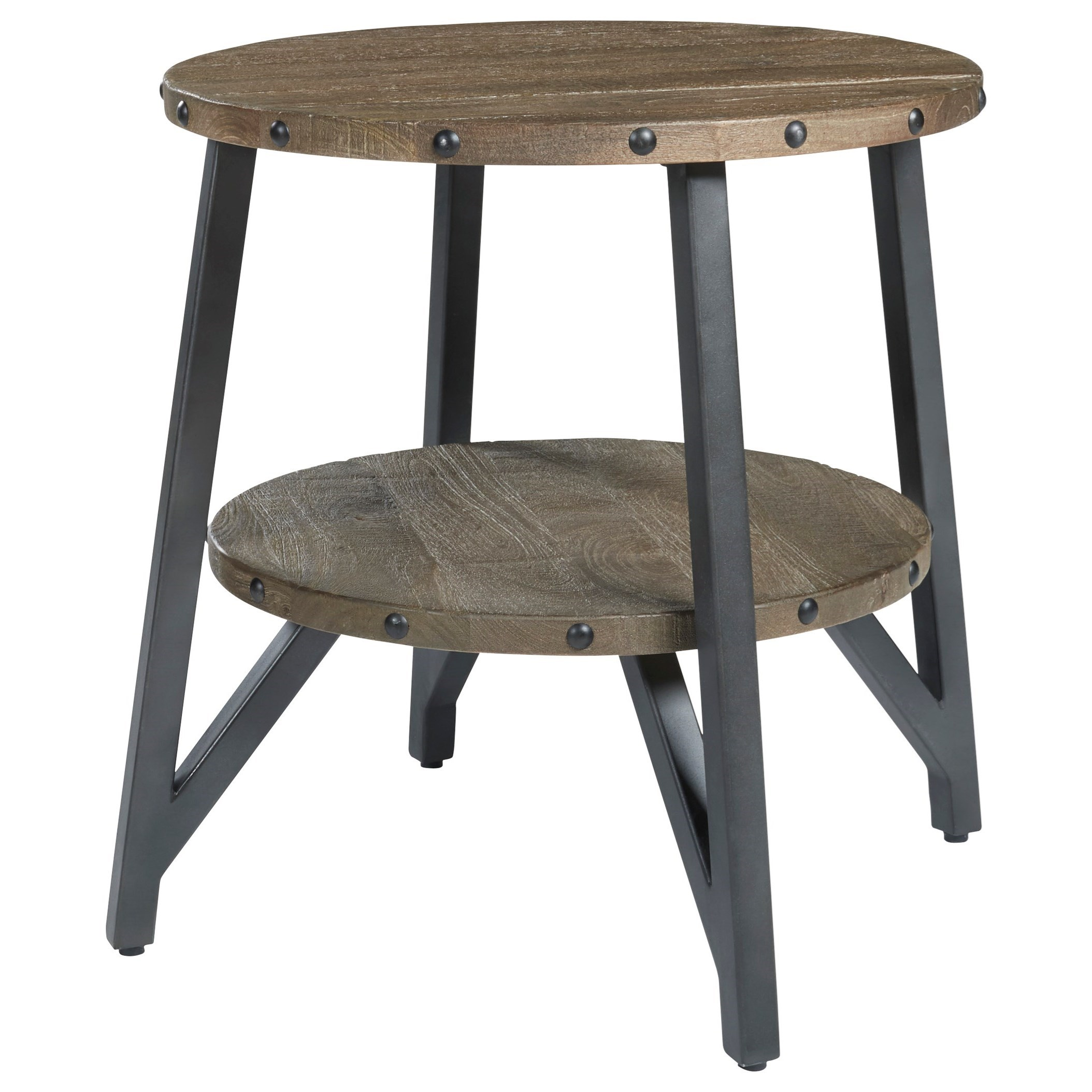 Haffenburg Round End Table by Ashley (Signature Design) at Johnny Janosik
