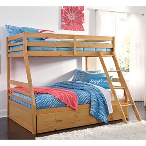 Ashley Signature Design Hallytown Twin/Full Bunk Bed w/ Under Bed Storage