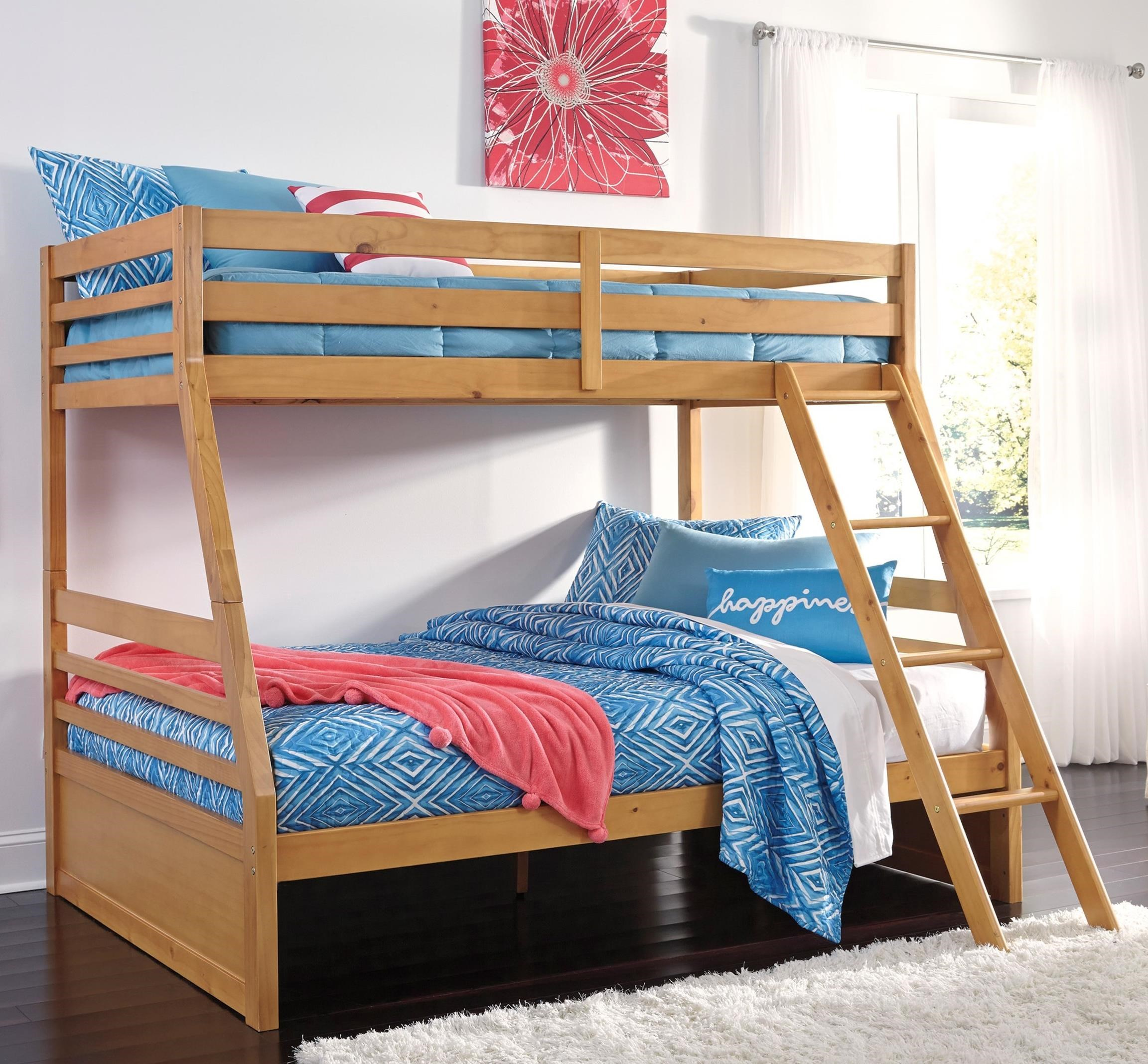 Signature Design By Ashley Hallytown Twin/Full Bunk Bed   Item Number: B324