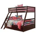 Signature Design by Ashley Halanton Twin/Full Bunk Bed w/ Under Bed Storage - Item Number: B328-58P+58R+50
