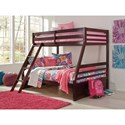 Signature Design by Ashley Halanton Solid Pine Twin/Full Bunk Bed w/ Under Bed Storage