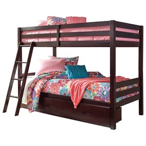 Signature Design by Ashley Halanton Twin/Twin Bunk Bed w/ Under Bed Storage