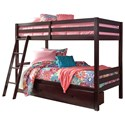 Ashley Signature Design Halanton Twin/Twin Bunk Bed w/ Under Bed Storage - Item Number: B328-59+50