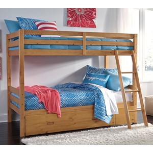 Signature Design by Ashley Hallytown Twin/Twin Bunk Bed w/ Under Bed Storage