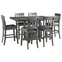 Signature Design by Ashley Hallanden 7-Piece Counter Height Dining Set - Item Number: PKG010489