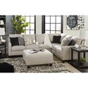Signature Design by Ashley Hallenberg Three Piece Sectional with Nailhead Trim Accents