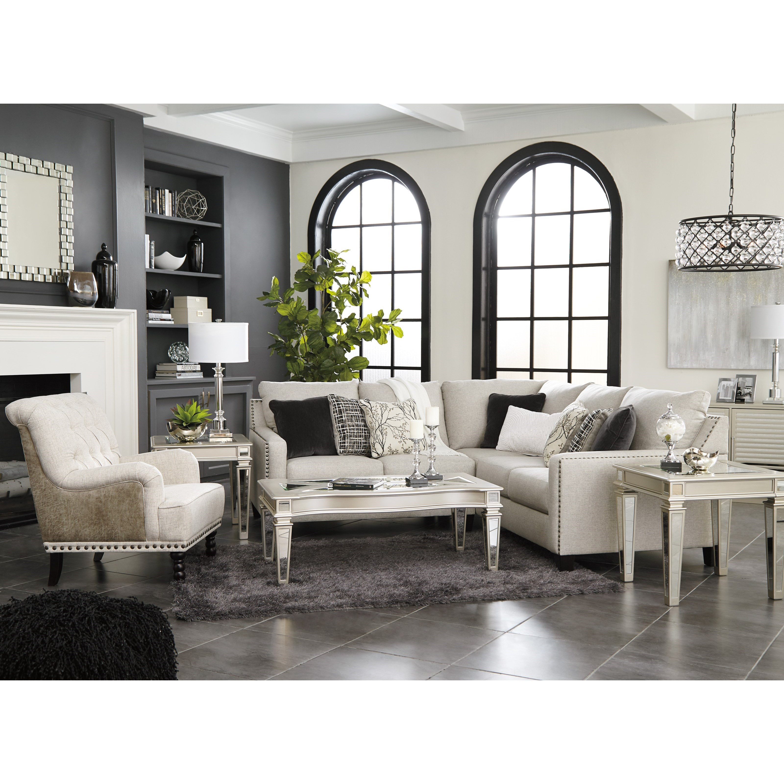 Ashley Signature Design Hallenberg Two Piece Sectional