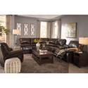 Signature Design by Ashley Hallettsville Reclining Living Room Group - Item Number: 35300 Living Room Group 2