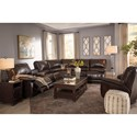 Signature Design by Ashley Hallettsville Power Reclining Sectional with Massage, Heat, and Cup Holder Cooling