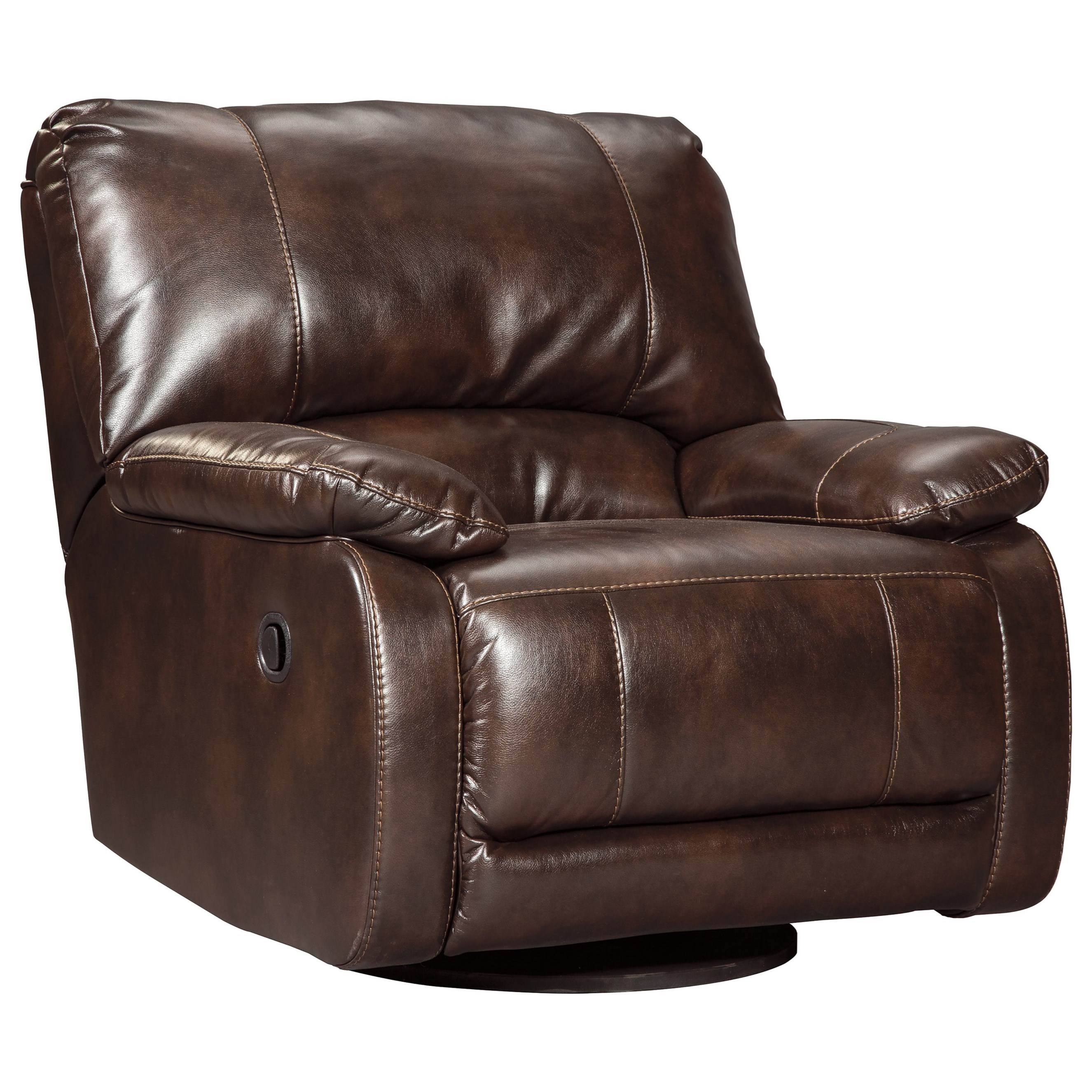 Signature Design By Ashley Hallettsville 3530061 Casual Contemporary Swivel Glider Recliner
