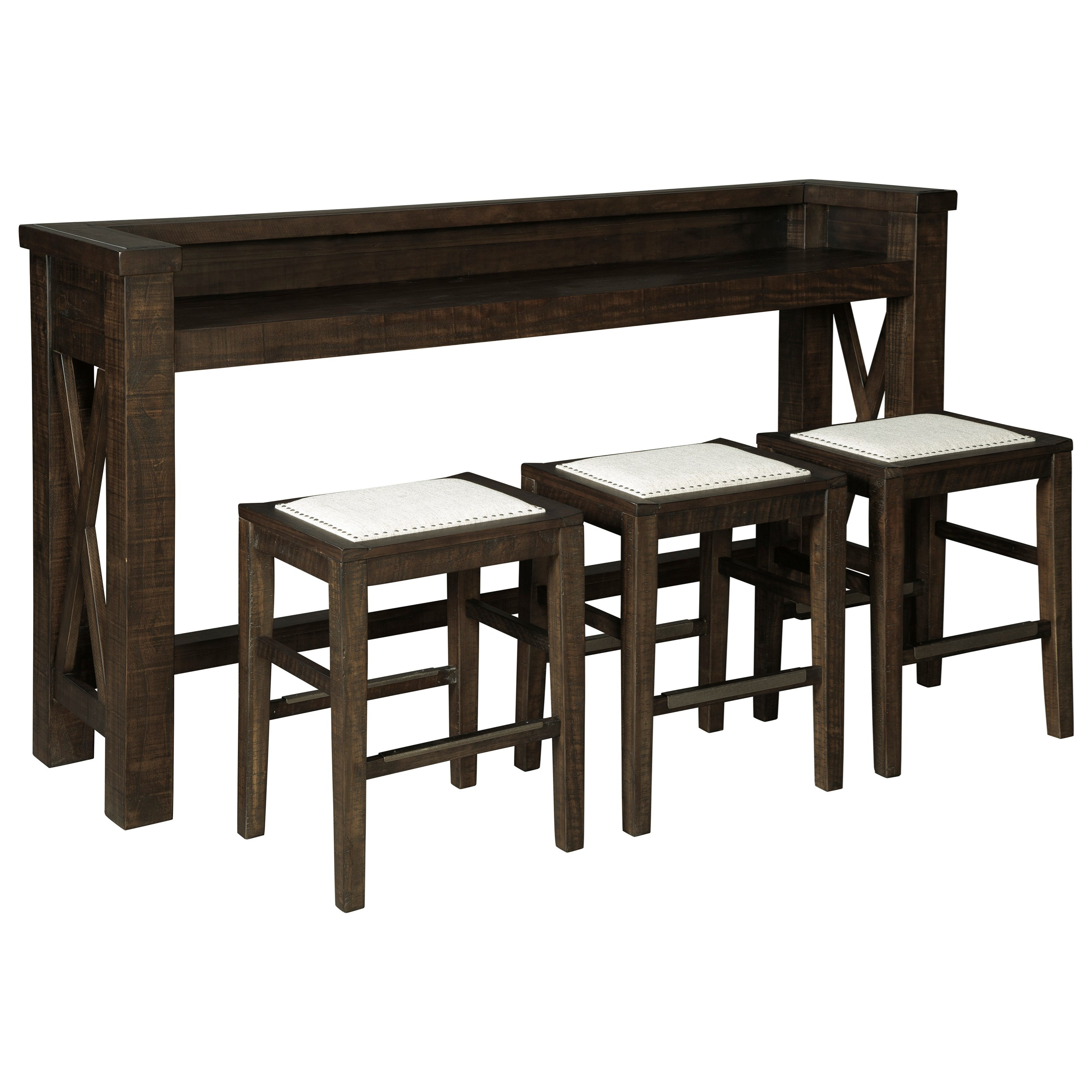 Hallishaw Counter Height Bar Table Set with 3 Stools by Ashley (Signature Design) at Johnny Janosik