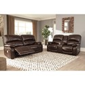 Signature Design by Ashley Hallstrung Power Reclining Living Room Group - Item Number: U52402 Living Room Group 1