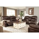 Signature Design by Ashley Hallstrung Power Reclining Living Room Group - Item Number: U52402 Living Room Group 2