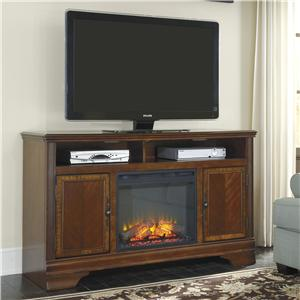 Signature Design by Ashley Furniture Hamlyn Large TV Stand with Fireplace Insert