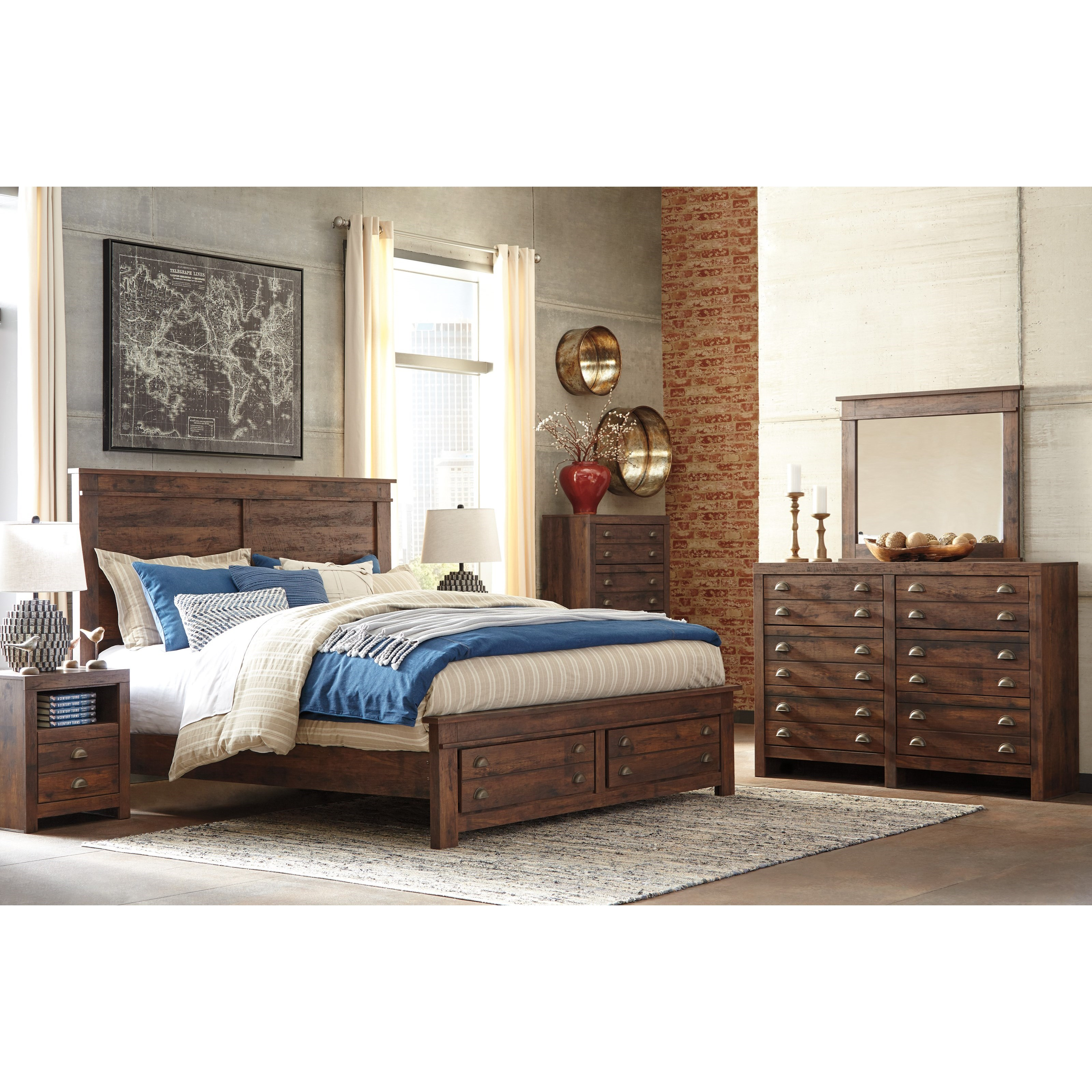 Signature Design by Ashley Hammerstead King Bedroom Group - Item Number: B407 K Bedroom Group 4