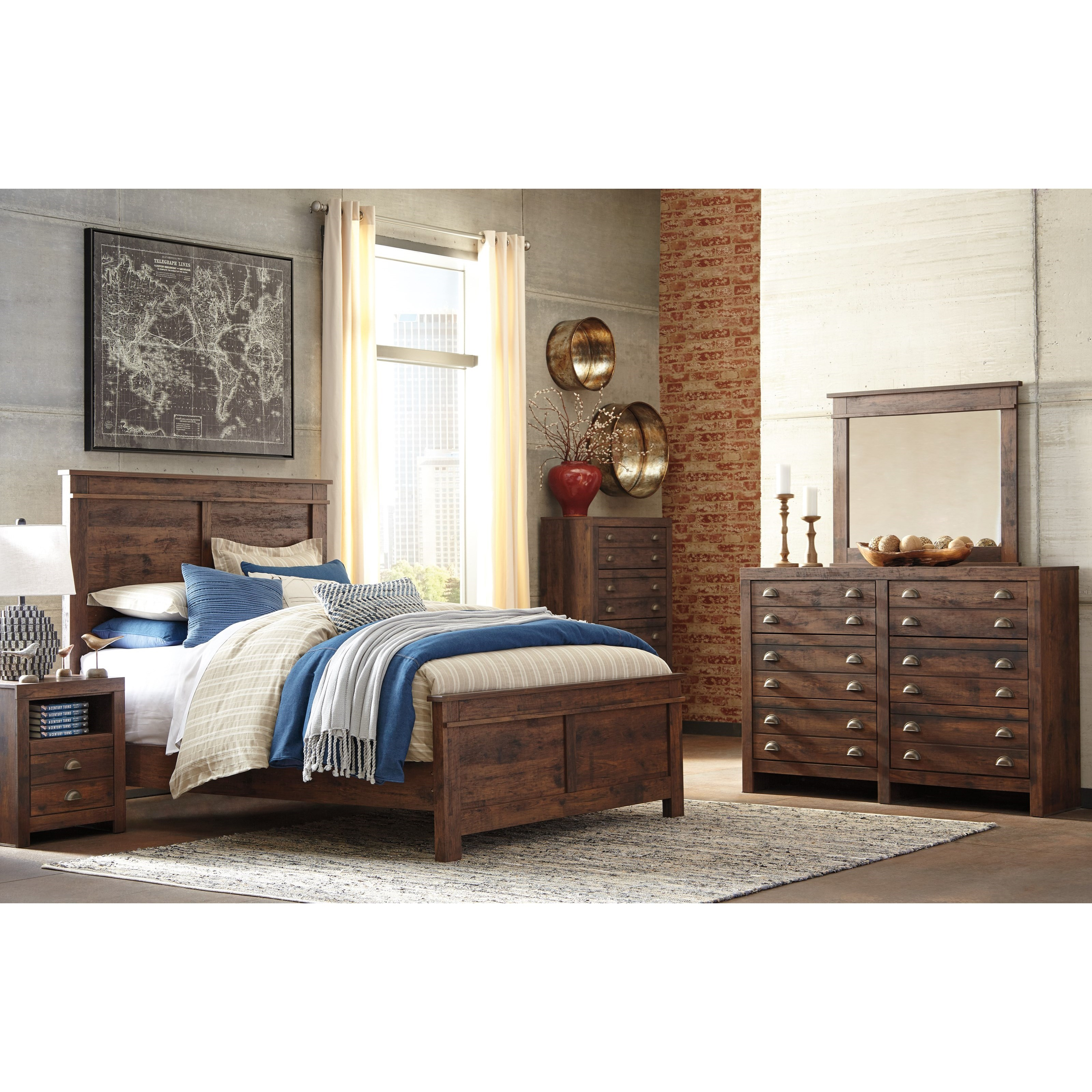 Signature Design by Ashley Hammerstead Queen Bedroom Group - Item Number: B407 Q Bedroom Group 2