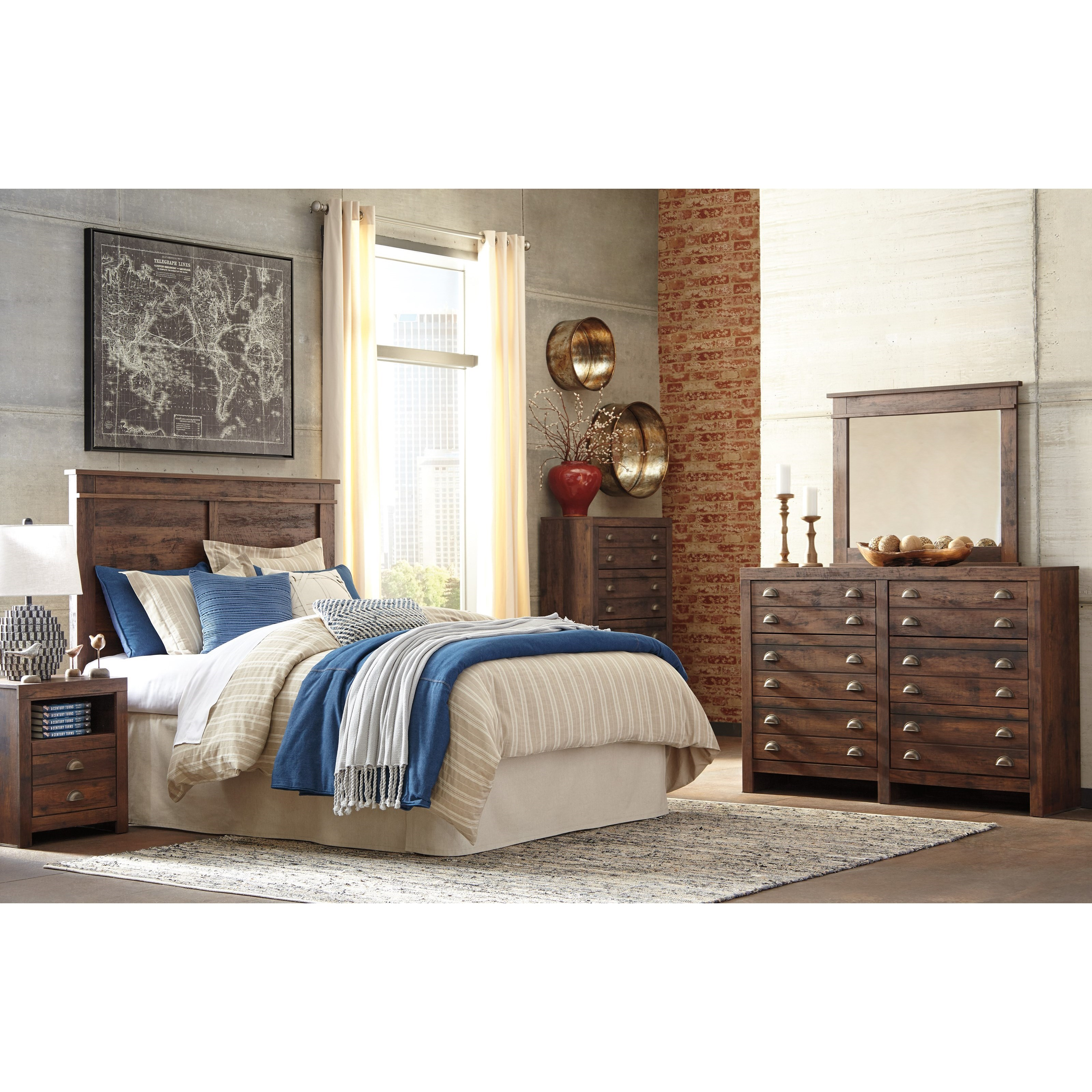Signature Design by Ashley Hammerstead Queen Bedroom Group - Item Number: B407 Q Bedroom Group 3