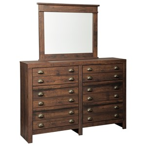 Signature Design by Ashley Hammerstead Six Drawer Dresser and Mirror