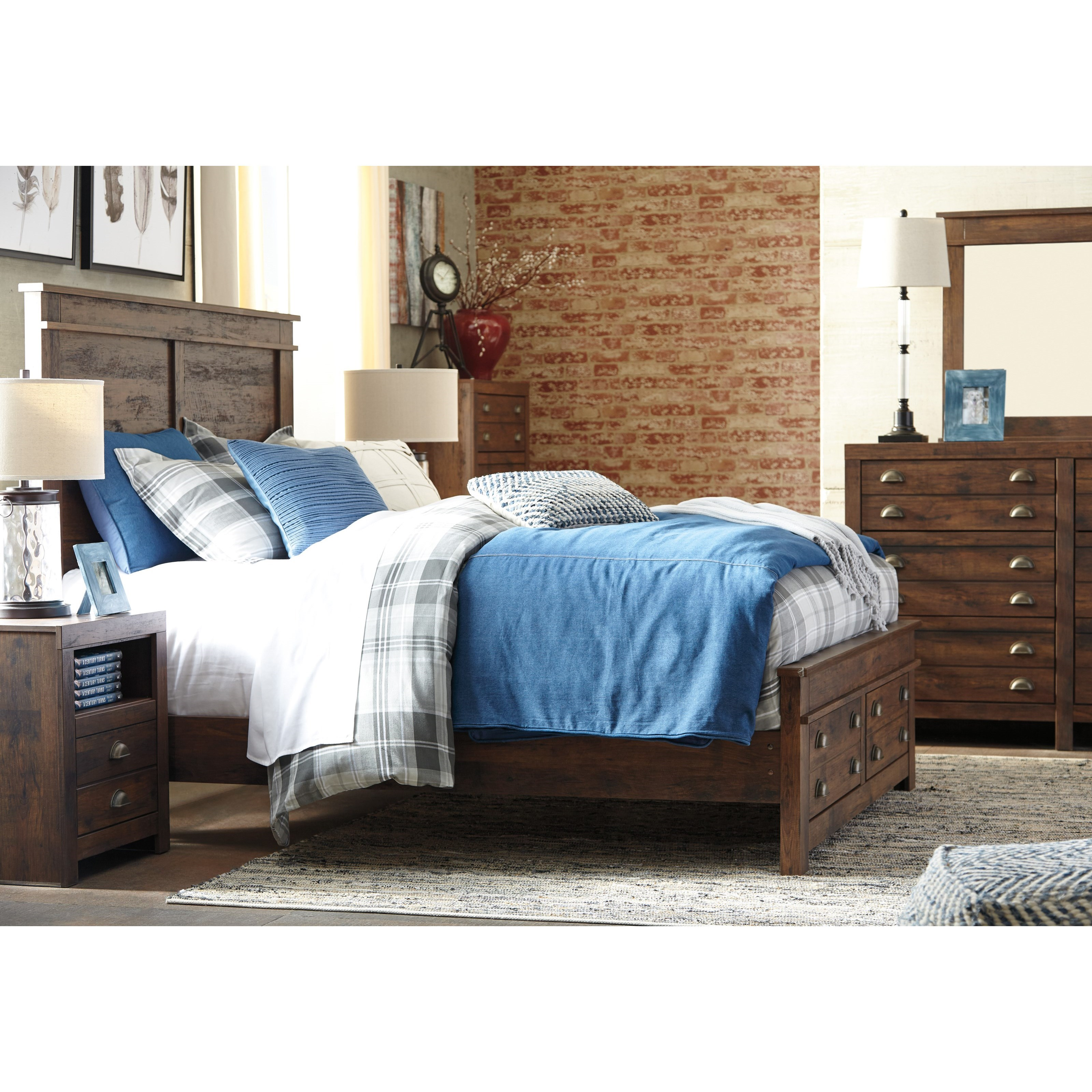 Signature Design By Ashley Hammerstead Queen Storage Bed With Two Drawers Conlin 39 S Furniture