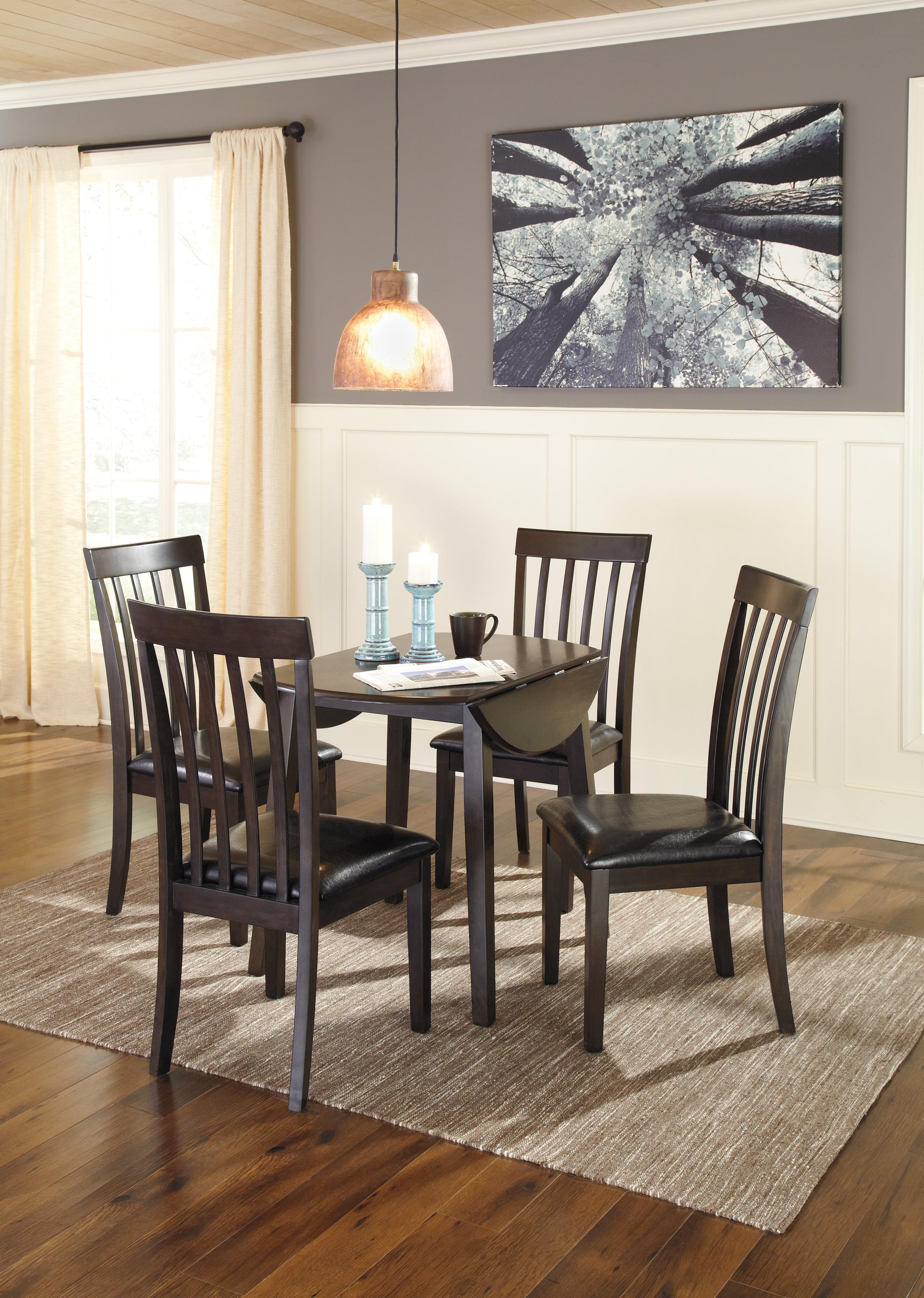 Ashley S Nest Decorating A Dining Room: Ashley Signature Design Hammis Round Dining Room Drop Leaf