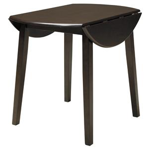Signature Design by Ashley Hammis Round Dining Room Drop Leaf Table