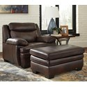 Signature Design by Ashley Hannalore Chair & Ottoman - Item Number: 1530420+14
