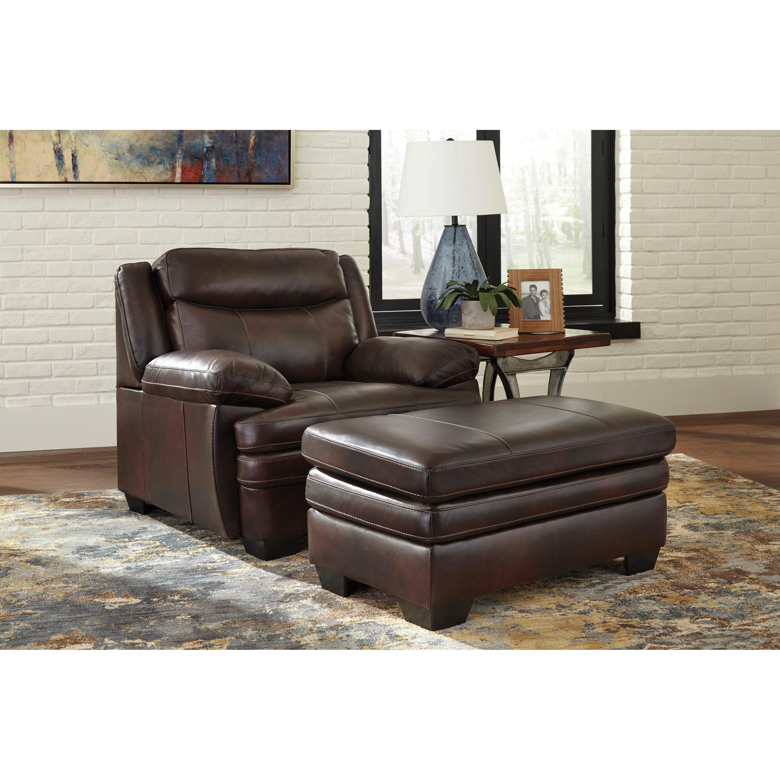 Signature Home Furnishings: Signature Design Hannalore Contemporary Leather Match