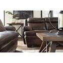 Signature Design by Ashley Hannalore Contemporary Leather Match Sofa