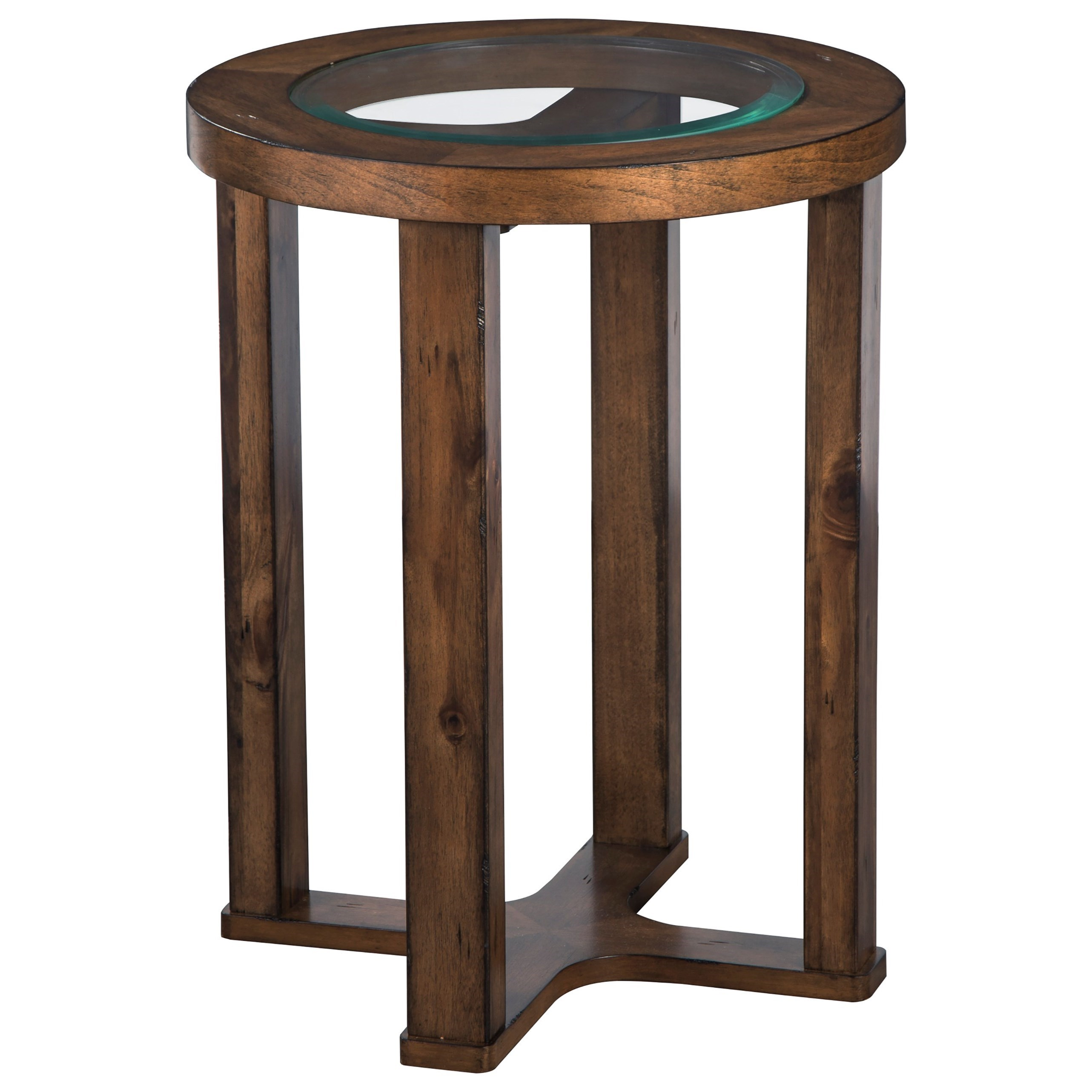 Hannery Round End Table by Ashley (Signature Design) at Johnny Janosik