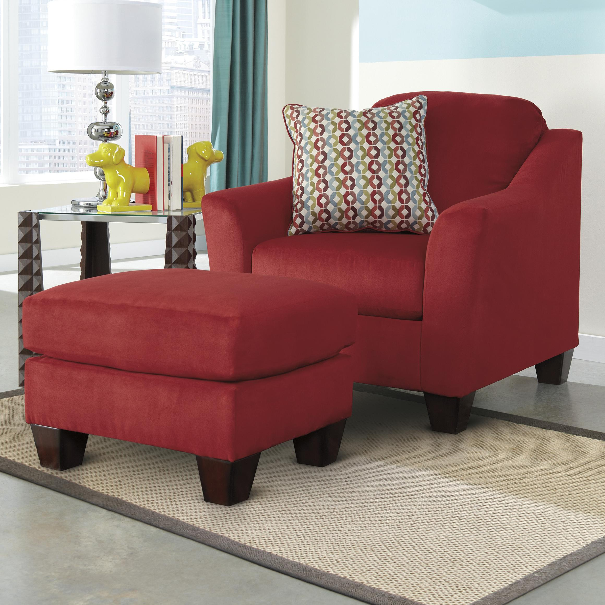 Signature Design by Ashley Hannin - Spice Chair & Ottoman - Item Number: 9580120+14