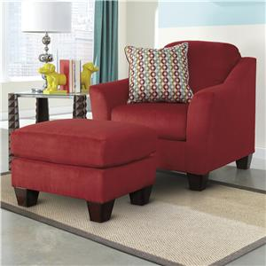 Ashley (Signature Design) Hannin - Spice Chair & Ottoman