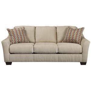 Signature Design by Ashley Furniture Hannin - Stone Sofa